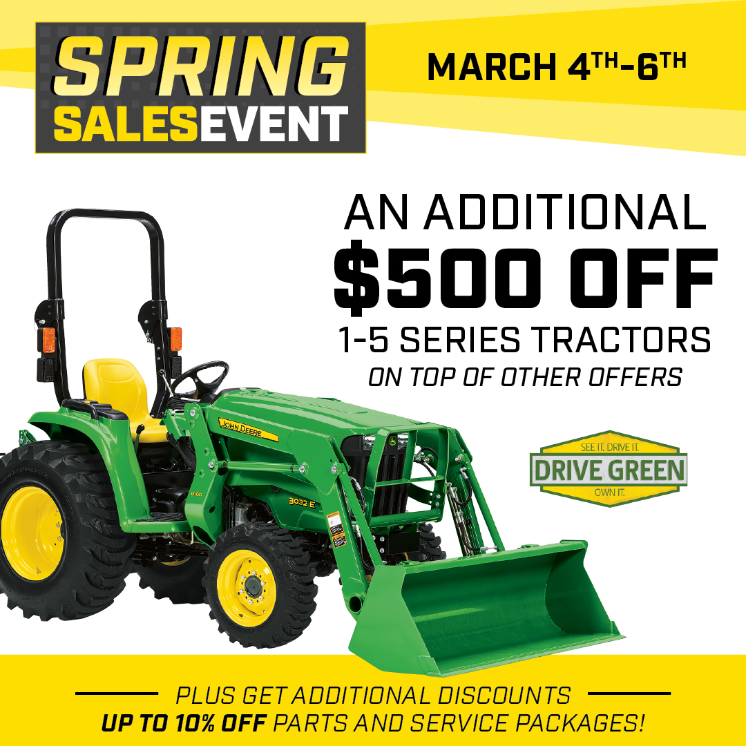 Spring Sales Event at Blanchard Equipment March 2021